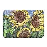 Feim-AO Sunflowers Non-Slip Machine Washable Doormat Home Decor Rug Floor Mat 23.6(L) X 15.7(W) Inch