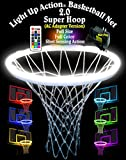 Light Up Action Basketball Net 2.0 Super Hoop Lighting System Full Size Full Color Shot Sensing Action (AC Adapter Version)