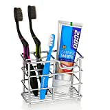 Redbean Toothbrush Holder,Stainless Steel Bathroom Toothpaste Holder