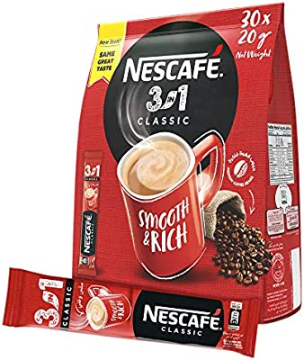 Nescafe 3in1 Instant Coffee Mix Sachet 20g 30 Sticks Buy Online