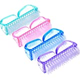 4 Pieces Handle Nail Brush Nail Hand Scrubbing Cleaning Brush (Multicolor, Size 1)