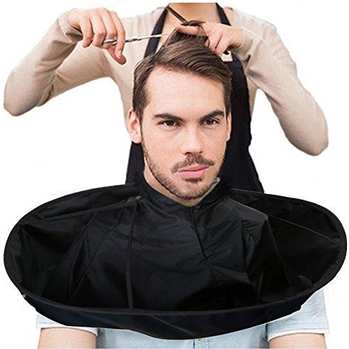 Elevin(TM) DIY Hair Cutting Cloak Umbrella Cape Salon Barber Salon and Home Stylists Using (Black)