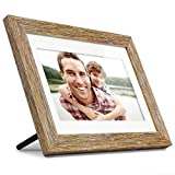Aluratek (ADPFD10F) 10 inch Digital Photo Frame with Auto Slideshow, Distressed Wood Border, 1024 x 600, 16: 9 Aspect Ratio, Wall Mountable