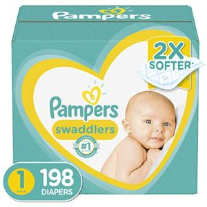 Baby Diapers Newborn/Size 1 (8-14 lb), 198 Count – Pampers Swaddlers, ONE MONTH SUPPLY (Packaging May Vary) 51EnJ93QrPL