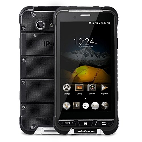 Ulefone ARMOR Triple Proofing Phone 32GB 4.7 Inch Android 6.0 Smartphone, MTK6753 Octa Core up to 1.3GHz, 3GB RAM GSM & WCDMA & FDD-LTE (Black)