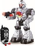 Jouet robotique télécommandé Play22 - Robots pour enfants - Jouet amusant fantastique - Le robot tire des promenades en missiles Parler et danser avec des lumières clignotantes 10 fonctions - Meilleur cadeau de robot RC pour garçons et filles - Originale