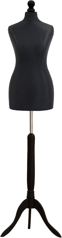 The Shopfitting Shop Buste de couture femme sur trépied Noir Taille 36
