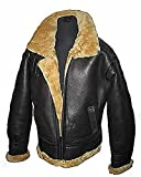 Product review for Men's Brown Flying B3 Real Shearling Ginger Sheepskin Leather Bomber Jacket