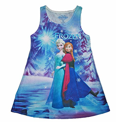 Anna and Elsa Sublimated Tank Dress