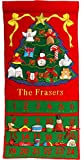 Pockets of Learning Personalized Christmas Tree Advent Calendar, Holiday Décor, Seasonal Fabric Wall Hanging, Cloth Countdown