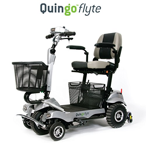 Quingo Flyte Mobility Scooter - Self Loading Into Car - Patented 5 Wheel Anti-Tip Stability System - Safer than 4 Wheel Scooters - Turns Like a 3 Wheel Scooter