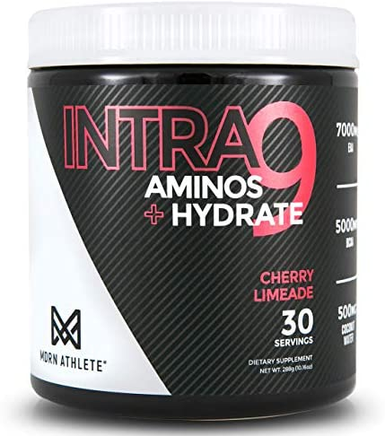 MDRN Athlete Intra9 | All 9 Essential Amino Acids EAA | 7 Grams | 2:1:1 Branched Chain Amino Acids BCAA | Keto | Recovery and Enhanced Hydration | Cherry Limeade (30 Servings) 3