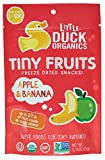 Little Duck Organics Tiny Freeze Dried Fruit Snack, Apple/Banana, 6 Count