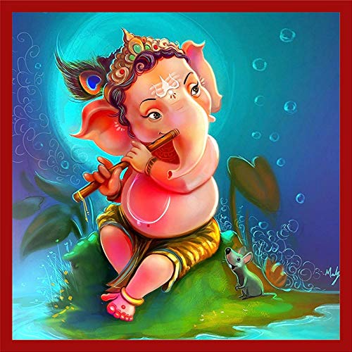 Buy Wallpics Vinyl Lord Ganesh Painting Waterproof Wall Stickers For Living Room 24wpwl26 24 Inch X 24 Inch Multicolor Online At Low Prices In India Amazon In