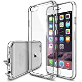 Ringke FUSION Compatible with iPhone 6 Case, iPhone 6S Case - All New Shock Absorption Technology Crystal Clear TPU Bumper Drop Protection Premium Clear Hard Back [Scratch Resistant] - Clear