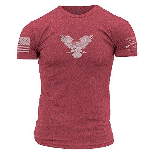 Grunt Style Basic Freagle Men's T-Shirt, Color Red, Size Large
