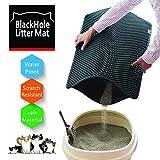 Moonshuttle Blackhole Rectangular Cat Litter Mat, 30 X 23-Inch, Dark Gray