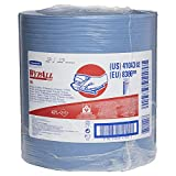 WypAll 41043 X80 Cloths with HYDROKNIT, Jumbo Roll, 12 1/2 x 13 2/5, Blue, 475/Roll