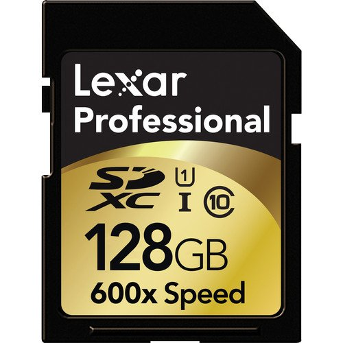 Lexar Professional 600x 128GB SDXC UHS-I Flash Memory Card LSD128CRBNA600
