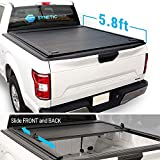 Syneticusa Aluminum Roll-Up Retractable Hard Tonneau Cover for 2014-2018 Silverado/Sierra 5.8ft Short Truck Bed Cargo (Hard Roll-Up Cover)