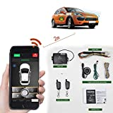 Remote Car Starter 2-Way Automatic Car Alarm System Phone APP Keyless Entry PKE Central Locking with Two 4-Button Controls Remote Start