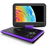 ieGeek 11.5' Portable DVD Player with SD Card/USB Port, 5 Hour Rechargeable Battery, Eye-protective Screen, Support AV-IN/ OUT, Region Free, Purple