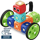Robo Wunderkind Robotics Kit - Build and Code Your Own Robots - STEM Toy for Kids 5-10 - Compatible with Lego - 2 Free Apps with Creative Coding Projects (Education Kit - 23 Piece Set)