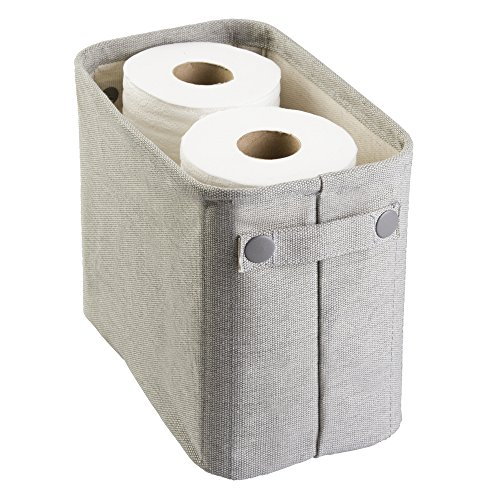 mDesign Soft Cotton Fabric Closet Storage Organizer