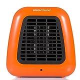 400-Watt Portable-Mini Heater Personal Ceramic Space Heater for Office Desktop Table Home Dorm, ETL Listed for Safe Use, Orange