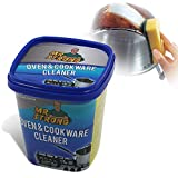 Oven & Cookware Cleaner Cleaning Paste 500G,Ovens, Stove Tops, Pans, Cookware, Glass Ceramic Stoves, Bath tubs, Tiles, Sinks, Chrome, Metal, UPVC Windows and Doors, Patio Furniture,Lemon Scent