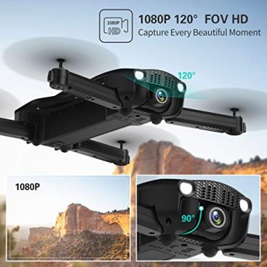 Drones-with-1080P-HD-Camera-for-BeginnersJJRC-H71-Foldable-Drone-with-Optical-Flow-Positioning-FPV-WiFi-Live-Video-Quadcopter-for-Adults22mins-Long-Flight-Time-Rc-Drone-with-2-BatteriesBlack