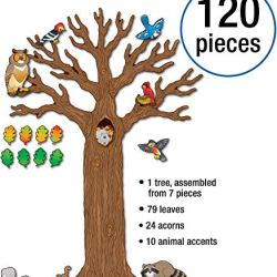 Carson Dellosa – Big Tree with Animals Bulletin Board Set, Classroom Décor, 120 Pieces