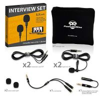 Professional Grade 2 Lavalier Lapel Microphones Set for Dual Interview - Dual Lavalier Microphone - 2 Lavalier…