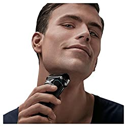 Braun Series 5 Men's Electric Foil Shaver with Wet & Dry Integrated Precision Trimmer & Rechargeable and Cordless Razor with Clean&Charge Station and Travel Case, 5195cc  Image 1