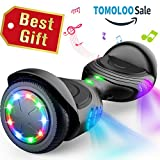TOMOLOO Hoverboard with Bluetooth Speaker, UL2272 Certified Self Balancing Electric Scooter, 6.5' Two-Wheel...