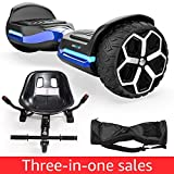Magic hover 6.5' inch All Terrain Off Road T581 Hoverboard,with Bluetooth Speaker and App-Enabled, Smart Self Balancing Scooter and LED Lights Two-Wheel with UL2272 Certified for Kids and Adults