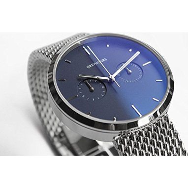 Greyhours Vision Steel Blue Watch | Silver