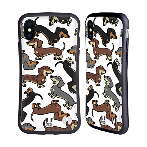 Head Case Designs Dachshund Dog Breed Patterns 3 Hybrid Case for iPhone X/iPhone XS