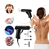 Inverlee Electric Chiropractic Adjusting Tool Therapy Spine Activator Massager Black Good for Scoliosis Thoracic Spondylosis Cervical Spondylosis Body Treatment (Black)