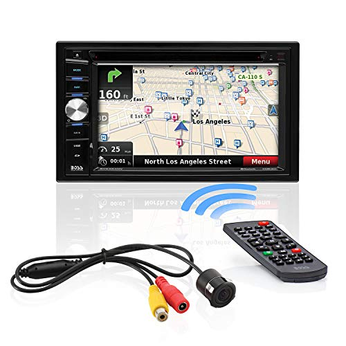 BOSS-Audio-Systems-BVNV9384RC-Car-GPS-Navigation-and-DVD-Player-Double-Din-Bluetooth-Audio-and-Calling-62-Inch-LCD-Touchscreen-Monitor-MP3-CD-DVD-USB-SD-Aux-in-AM-FM-Radio-Receiver