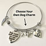 Dog Memorial Gift | Dogs Leave Paw Prints On Our Hearts | Rainbow Bridge Pet Loss Jewelry