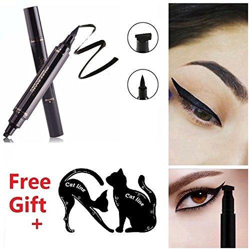 2pcs Eyeliner Stamp Pen, Vogue Effects Black Winged Eye Winger Pen ...