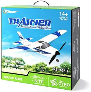 Top-Race-Rc-Plane-3-Channel-Remote-Control-Airplane-Ready-to-Fly-Rc-Planes-for-Adults-Easy-Ready-to-Fly-Great-Gift-Toy-for-Adults-or-Advanced-Kids-Upgraded-with-Propeller-Saver-TR-C285G