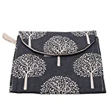 GUAngqi Sanitary Napkins Bag Sanitary Towel Storage Bag Sanitary Pad Holder Bag Case Cotton Linen Cartoon Small Storage Bag Purse Tampons Washable Organizer Storage,Black Tree