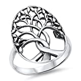 Tree of Life Branches Fashion Ring New .925 Sterling Silver Band Size 8