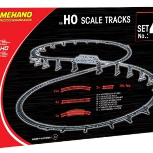 Mehano MEHANOF104 Additional (52 Pcs, to Combine with Railroad Bridge) Ho Scale Tracks Set 4-Made in Slovenia, Multi Colour 51FVBWoYhJL