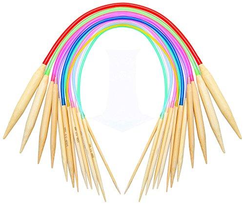 16 inch Circular Knitting Needles Set Knitting Kit Size 15 13 11 10 9 8 7 6 5 4 3