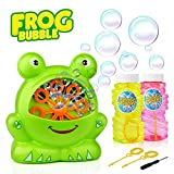 Baztoy Bubble Machine, Boys Girls Toys Over 500 Bubbles Per Minute Durable Automatic Bubble Blower for Kids with 2 Extra Bubbles Solution for Birthday Party, Indoor and Outdoor