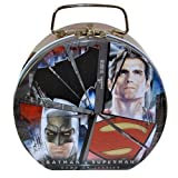 Batman vs Superman Semi-round Shaped Tin Box With Clasp & handle