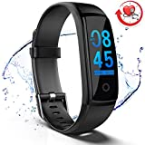 MorePro Fitness Tracker HR Waterproof Activity Tracker Watch with Heart Rate Blood Pressure Monitor, Color Screen Smart Wristband Pedometer, Sleep Tracking Calorie Counter